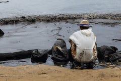 THAILAND-ENVIRONMENT-OIL-POLLUTION Royaltyfri Fotografi