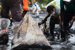 THAILAND-ENVIRONMENT-OIL-POLLUTION Arkivfoto