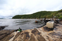 THAILAND-ENVIRONMENT-OIL-POLLUTION Stock Photo