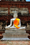 thailand för ayutthayachai mongkhon wat yai arkivbilder