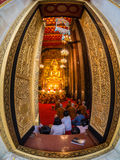 thailand för bangkok bowonniwettempel wat Royaltyfri Fotografi