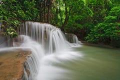 thailand för huay khaminnivåmae tredje vattenfall Arkivbilder