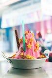 Thailand för issötsakdessert/efterrätt vid is Arkivfoton
