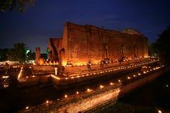 thailand för plats för ayuttayamahaenatt wat yong Fotografering för Bildbyråer