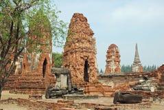 thailand för sri för ayutthayaphrasanphet wat Arkivbild