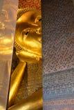 thailand för staty för pho för bangkok buddha framsidaguld reclining wat Wat Pho Royaltyfri Bild