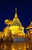 thailand för suthep för phra för chiangdoimai wat Arkivfoton