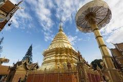 thailand för suthep för phra för chiangdoimai wat Royaltyfria Foton