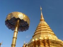 thailand för suthep för phrathat för chiangdoimai wat Arkivfoton