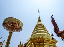 thailand för suthep för phrathat för chiangdoimai wat royaltyfria bilder
