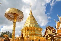 thailand för suthep för phra för chiangdoimai wat Arkivbilder