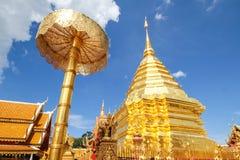 thailand för suthep för phra för chiangdoimai wat Royaltyfri Bild