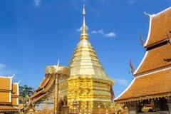 thailand för suthep för phra för chiangdoimai wat Arkivbild