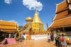 thailand för suthep för phra för chiangdoimai wat Royaltyfri Foto