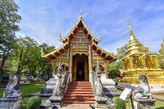 thailand för tempel för Chiang Mai phrasingh wat royaltyfria bilder