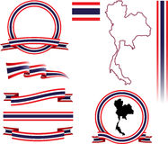 Thailand-Fahnen-Satz Lizenzfreie Stockbilder