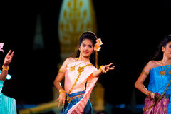Thailand Female Traditional Dancing Fingers Pinch Royalty Free Stock Image