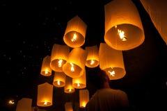 Thailand-Festival - Loi Krathong Stockbild
