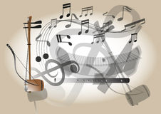 Thailand fiddle musical instrument Stock Images