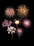 Thailand fireworks Stock Photo
