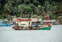 Thailand-Fischerboote, Schiffe lizenzfreie stockbilder