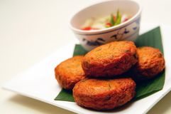 Thailand Fishcakes royalty free stock photo