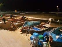 Thailand-fishermanboats stockfotos