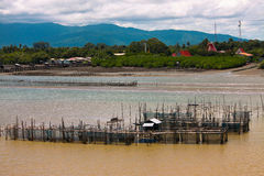 Thailand Fishery. Fisheries on the Chanthaburi River Thailand. it the way of life here. Whether its raising shrimp, crab, which grossed a lot Stock Photo