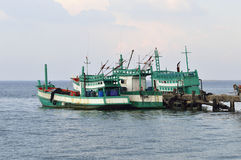 Thailand fishing boat. Fishing boat in Thailand on summer Stock Image