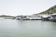 Thailand Fishing Village Stock Photography