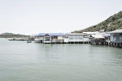 Thailand fiskeläge Arkivbild