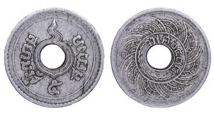 Thailand five satang coin issued on B.E.2478 Stock Photos