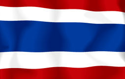 Thailand Flag. Flag thailand waving with highly detailed textile texture pattern Royalty Free Illustration