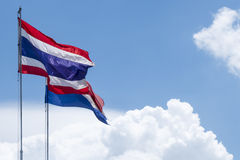 Thailand flag on the blue sky Stock Photos