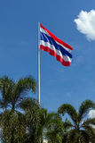 Thailand Flag with blue sky Stock Photography