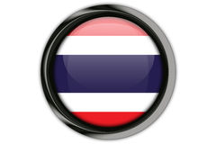Thailand  flag in the button pin Isolated on White Background Stock Image