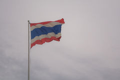 Thailand flag. With cloudy background Stock Photo
