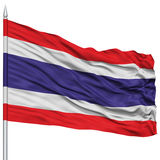 Thailand Flag on Flagpole Stock Images