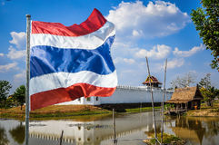 Thailand flag is flying Royalty Free Stock Images
