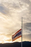 Thailand Flag Mourn Stock Photos