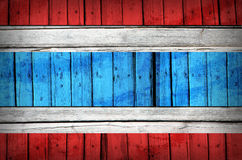 Thailand flag painted on wooden boards Stock Photo