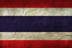 Thailand Flag on Paper. Flag on an old Paper Texture Royalty Free Stock Images
