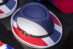 Thailand flag pattern hats. On black background Stock Photo
