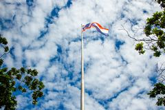 Thailand flag pennants elegant. stock image