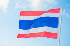 Thailand flag on the pole Stock Image