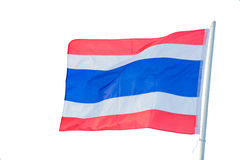Thailand flag on the pole Stock Photo