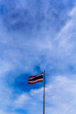Thailand flag. Pole that is in the capital Stock Image
