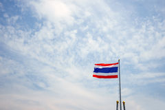 Thailand flag on a pole on the sky Stock Image