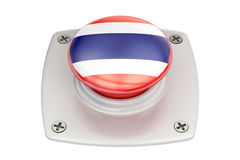 Thailand flag push button, 3D Royalty Free Stock Photos