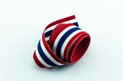 Thailand flag ribbon Royalty Free Stock Photography